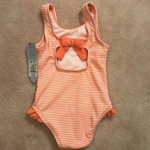 NWT - Cat & Jack Striped Swimsuit - 18 mos
